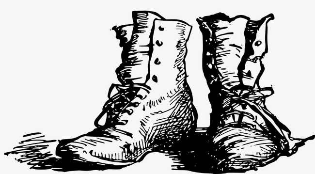 650x359 Hand Painted Boots, Black And White, Footwear, Hand Drawn Line Png
