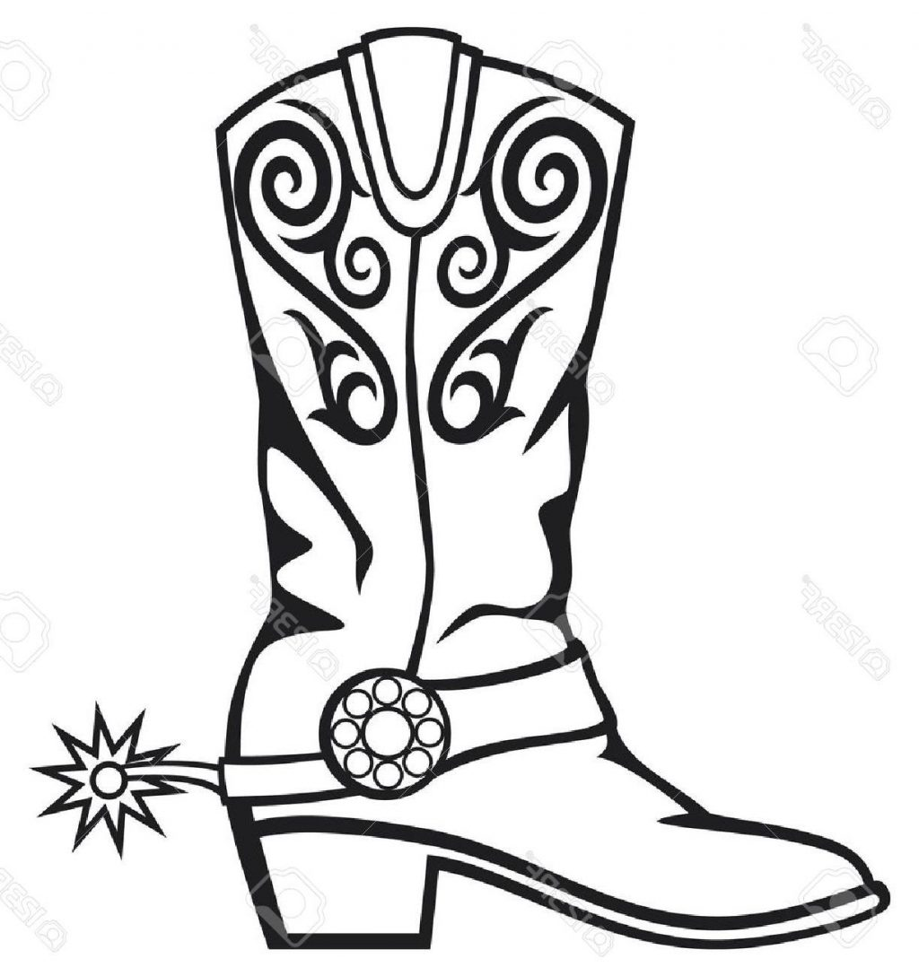 cowboy boot line drawing at getdrawings com free for personal use rh getdrawings com