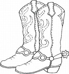 236x251 Cowboy Boot Line Drawing