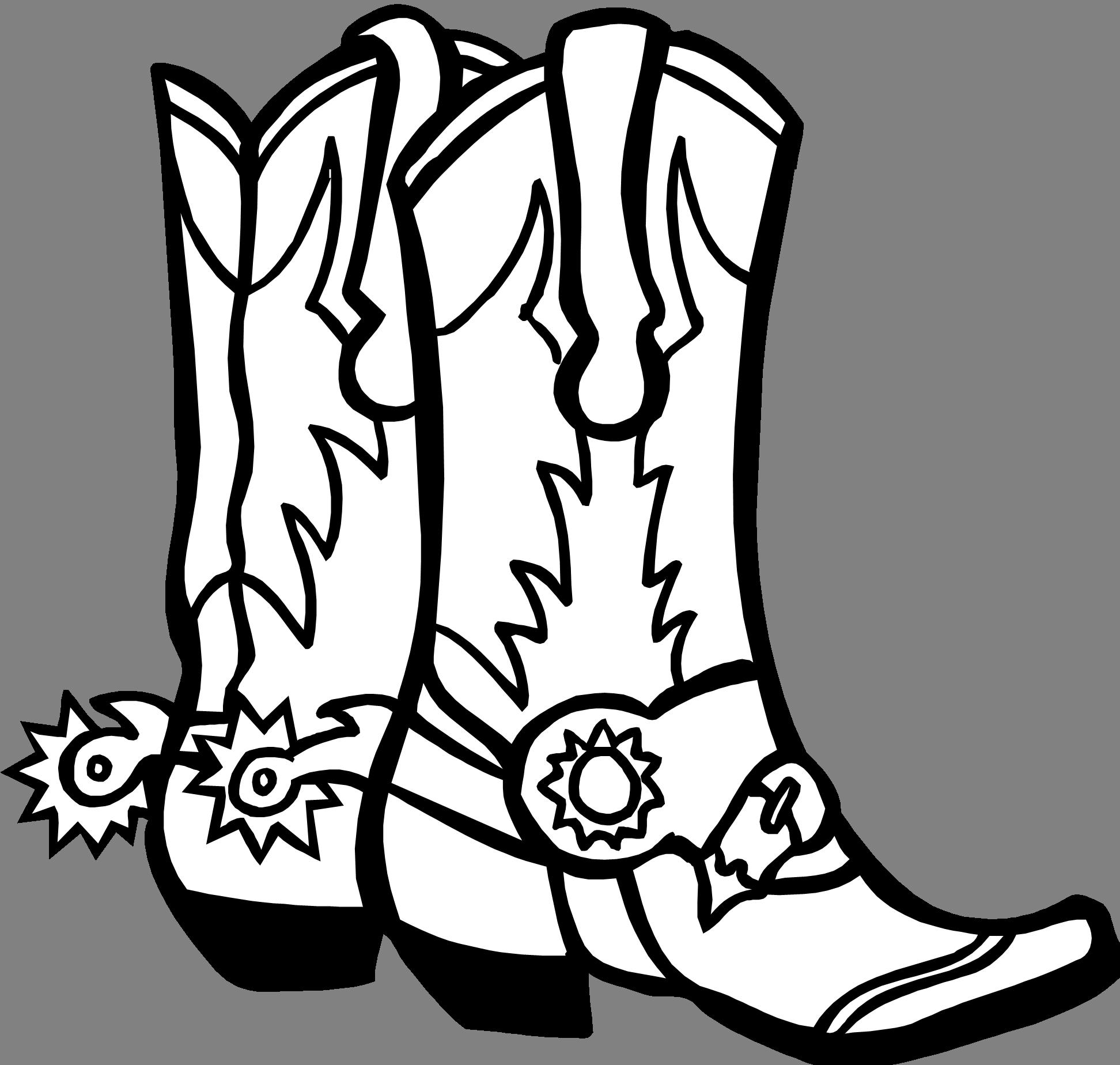 1944x1848 Line Art Graphic Image Cowboy Boots Reboot