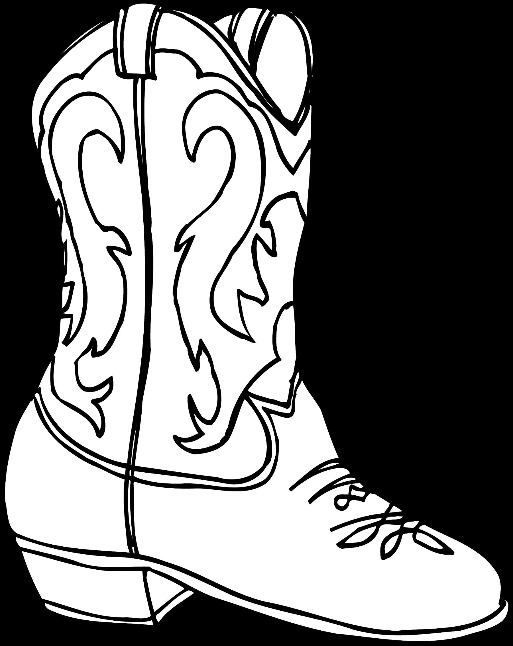 Cowboy Boot Line Drawing at GetDrawings.com | Free for personal use ...