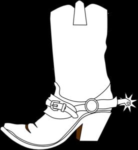 276x299 Cowboy Boot Clip Art