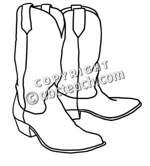 300x332 Cowboy Boots Outline Footwearpedia