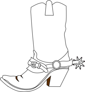 276x299 Western Clipart Cowgirl Boot