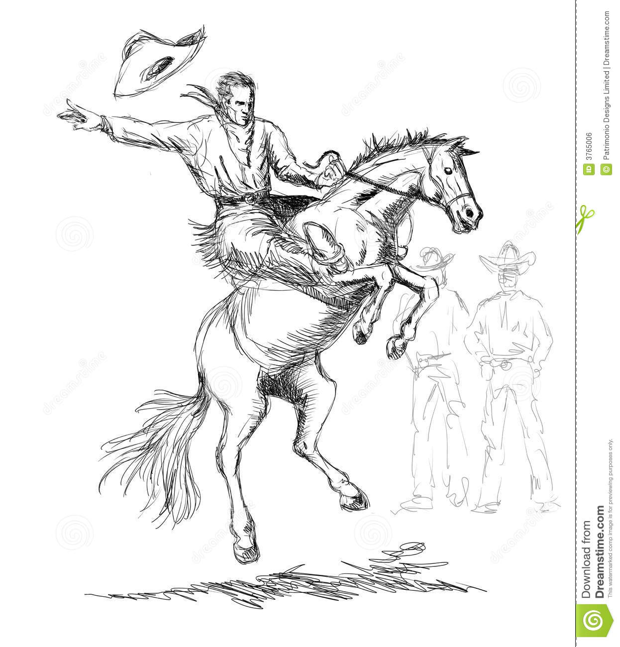 1246x1300 Cowboy On A Horse Drawing Cowboy On Horse Drawing 5066 Imgflash