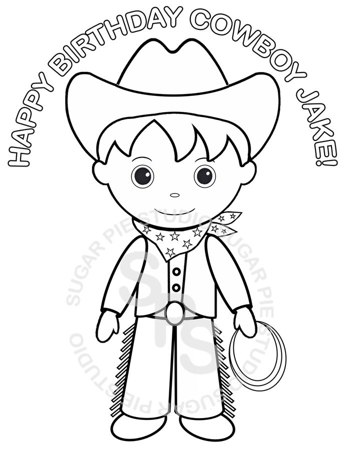 695x900 Personalized Printable Cowboy Birthday Party Favor Childrens Kids