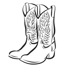 cowboy hat and boots drawing at getdrawings com free for personal rh getdrawings com