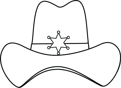 500x366 Cowboy Hat Coloring Page Pages Cowgirl Hat Printable Cowboy Hat
