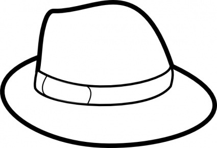 425x290 Hat Clipart Black And White Letters Format