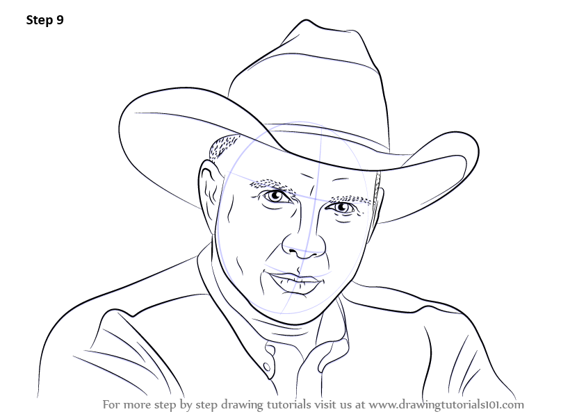 843x596 Learn How To Draw Garth Brooks (Singers) Step By Step Drawing