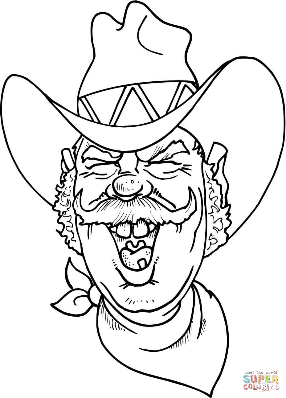 928x1291 Cowboy Laughing Coloring Page Free Printable Coloring Pages
