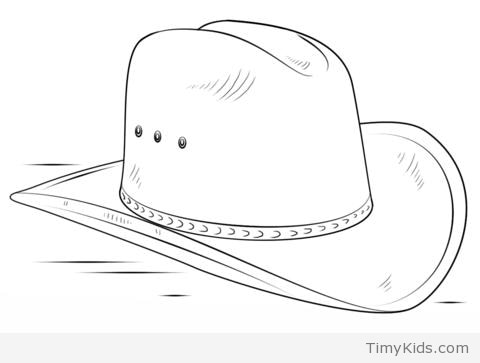 Cowboy Hat Line Drawing