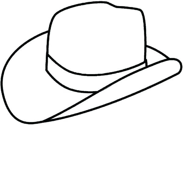 600x620 Cowboy Hat Coloring Page Cowboy Hat Coloring Page Cowboy Pages