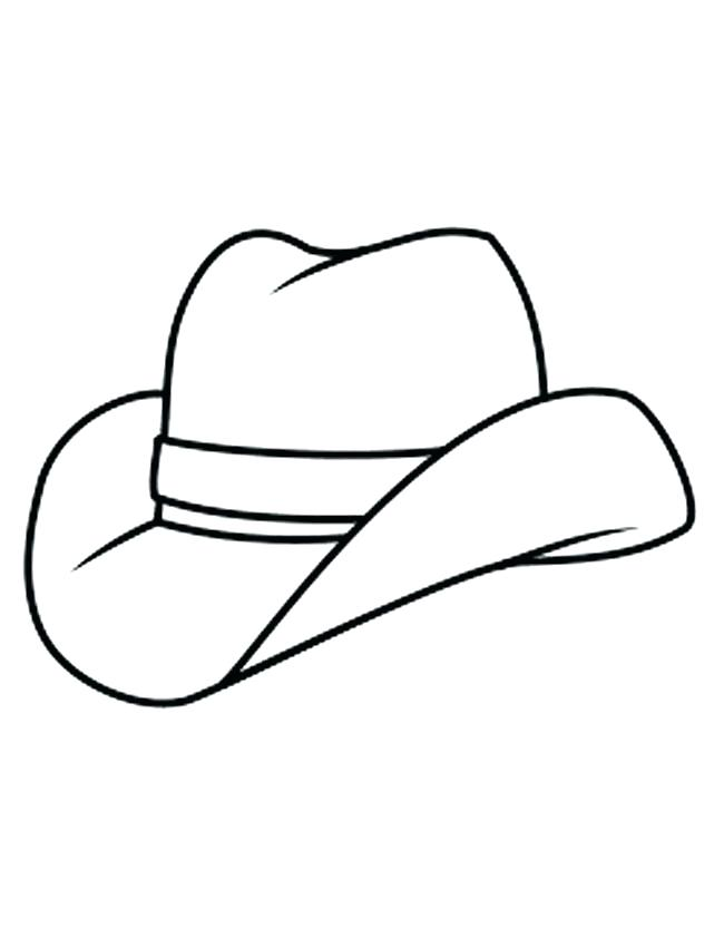 Cowboy Hat Line Drawing At Getdrawings Com Free For Personal Use