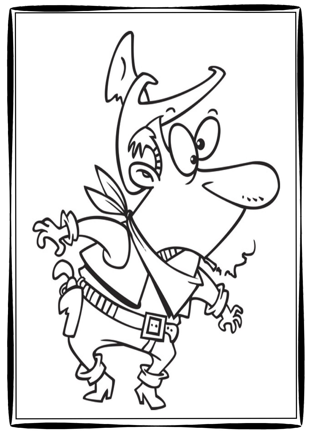 1239x1754 Free Cowboy Coloring Pages