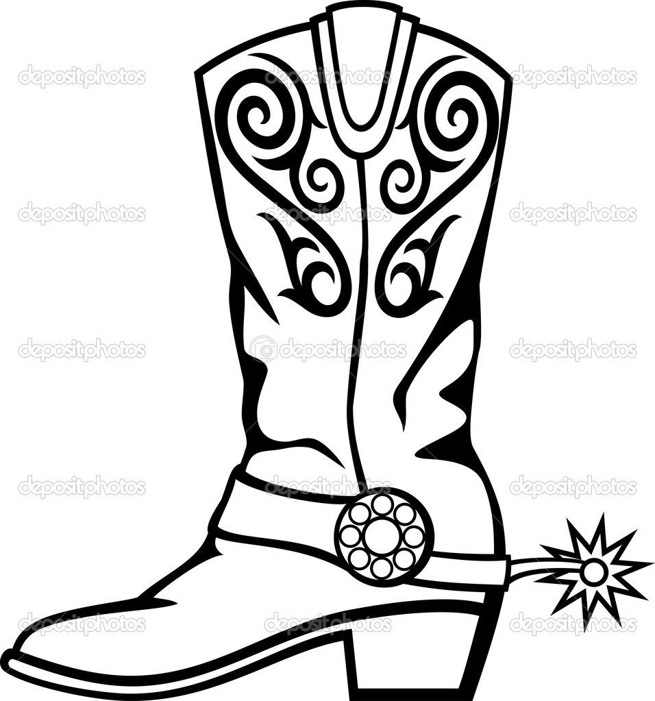 956x1023 Pics For Gt Cowboy Boots With Spurs Clipart A Upcoming 4