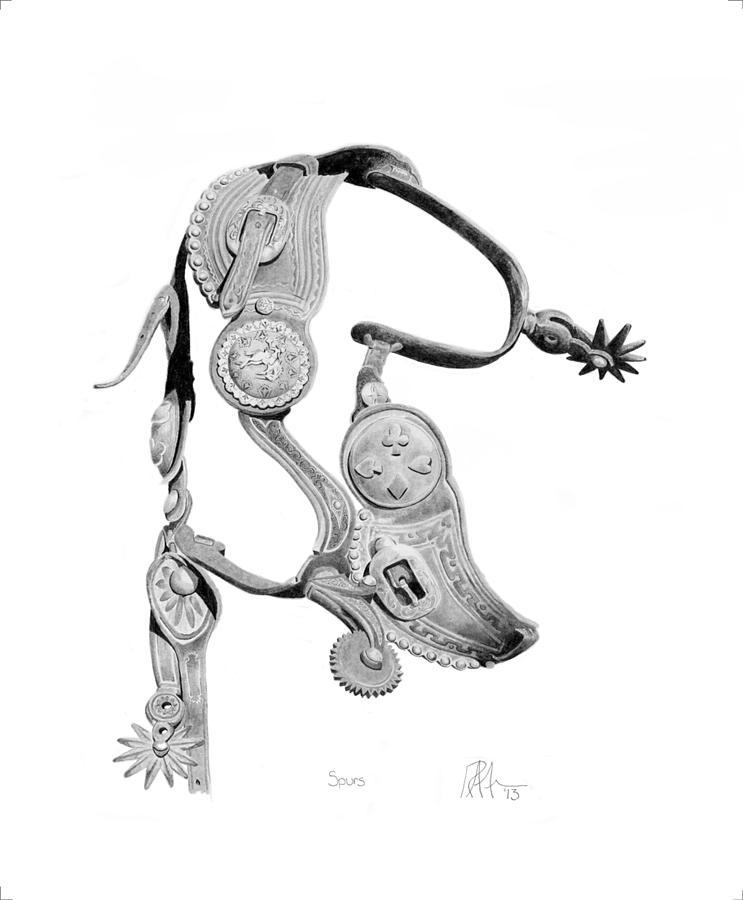 743x900 Spurs Drawing By Ryan Friesen