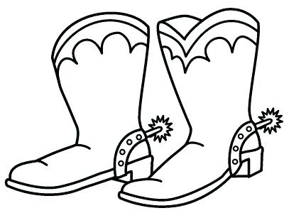 400x300 Cowboy Boots Coloring Pages Medium Size Of Coloring Coloring Pages