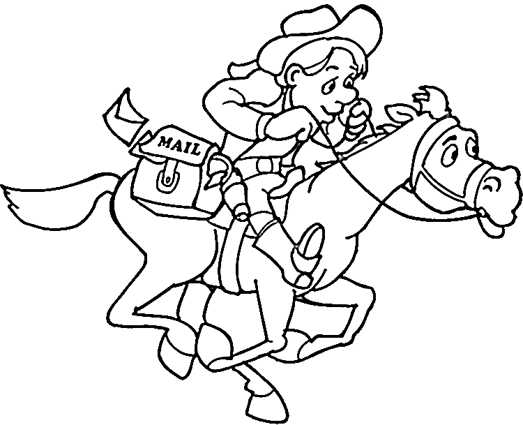 750x609 Cowboys Coloring Pages