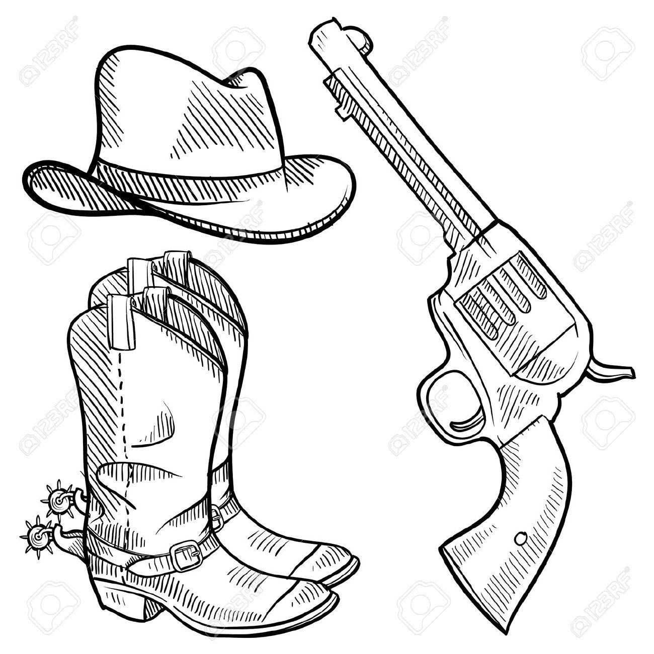 1300x1300 Boots Clipart Cowboy Gun