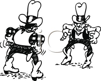 350x283 Two Cowboys In A Gun Fight