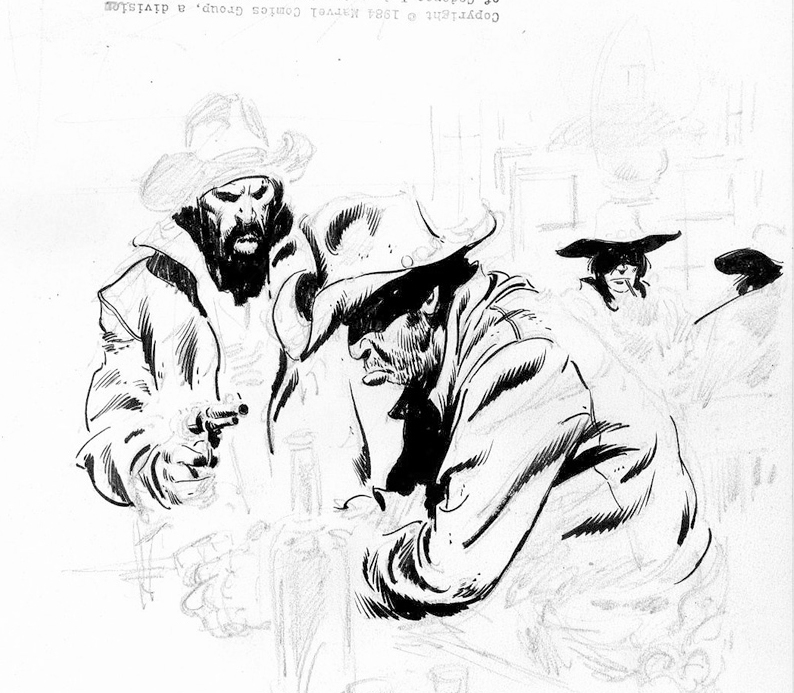 794x693 Cowboys John Buscema The Lost Drawings . Click On Pics To See