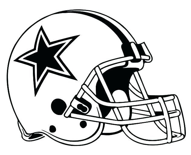 632x511 Dallas Cowboys Coloring Page