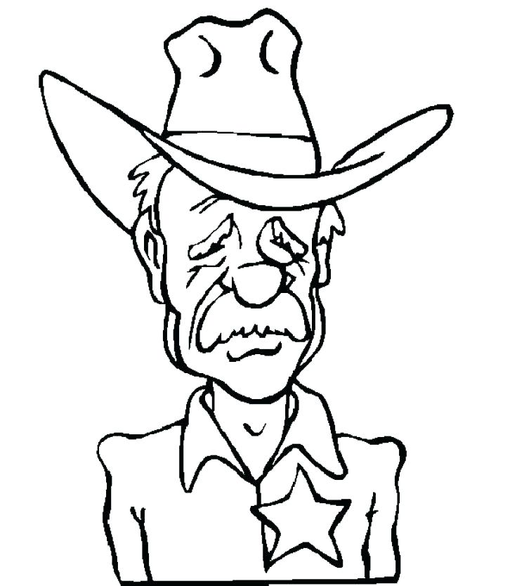 736x834 Cowboy Coloring Pages Printable Cowboys Coloring Page Coloring