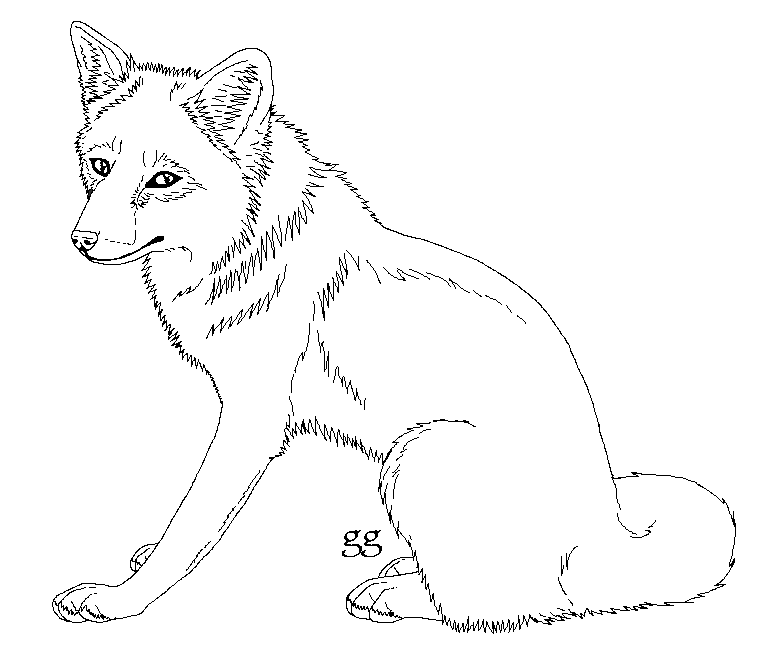 774x662 Free Red Fox Lineart By Galianogangster