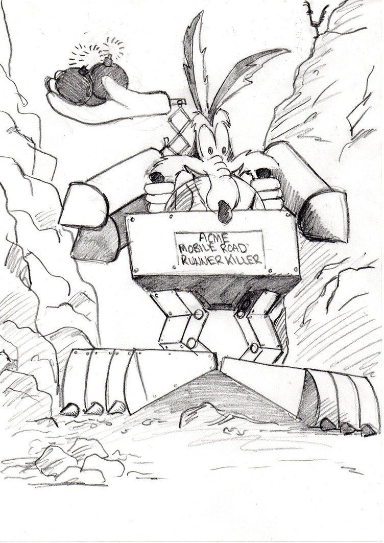 752x1063 Wile E Coyote By Ditch Scrawls