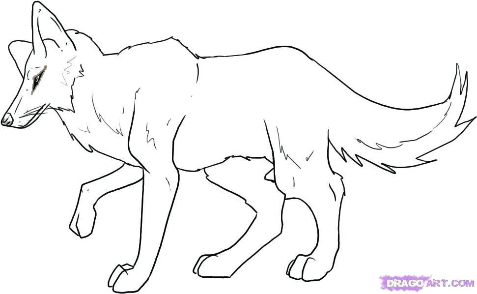 971x598 Coloriage Coyote