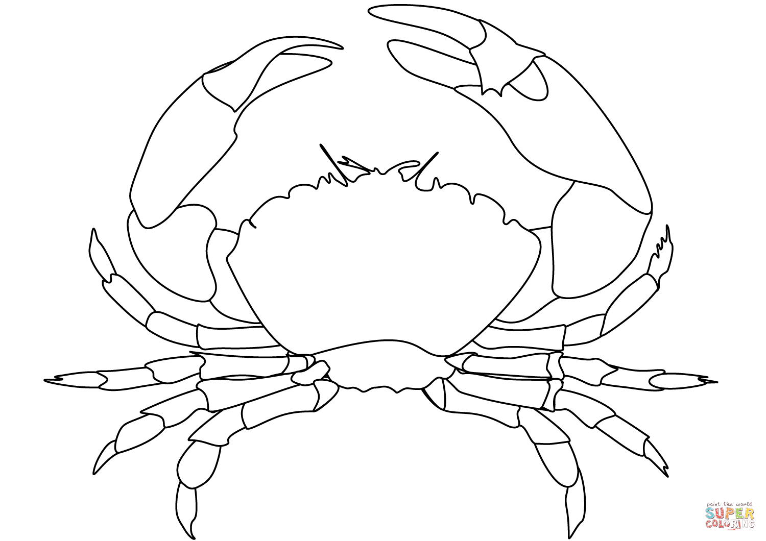 1500x1060 Crab Coloring Page Free Printable Coloring Pages