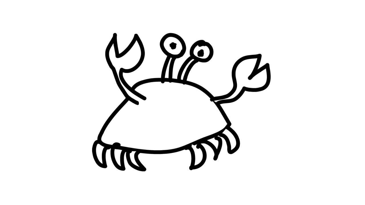 1280x720 How To Draw A Crab