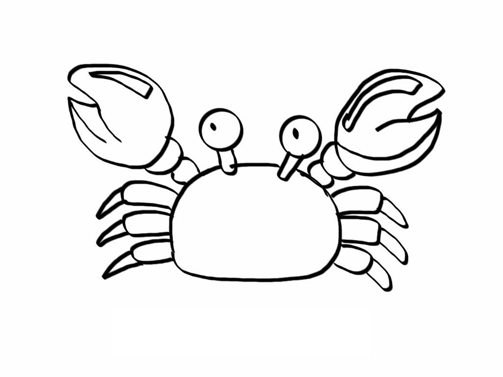 1024x768 Trendy Crab Coloring Printables Have Crab Coloring Pages On