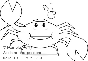 300x209 Crab Line Drawing Clipart Amp Stock Photography Acclaim Images