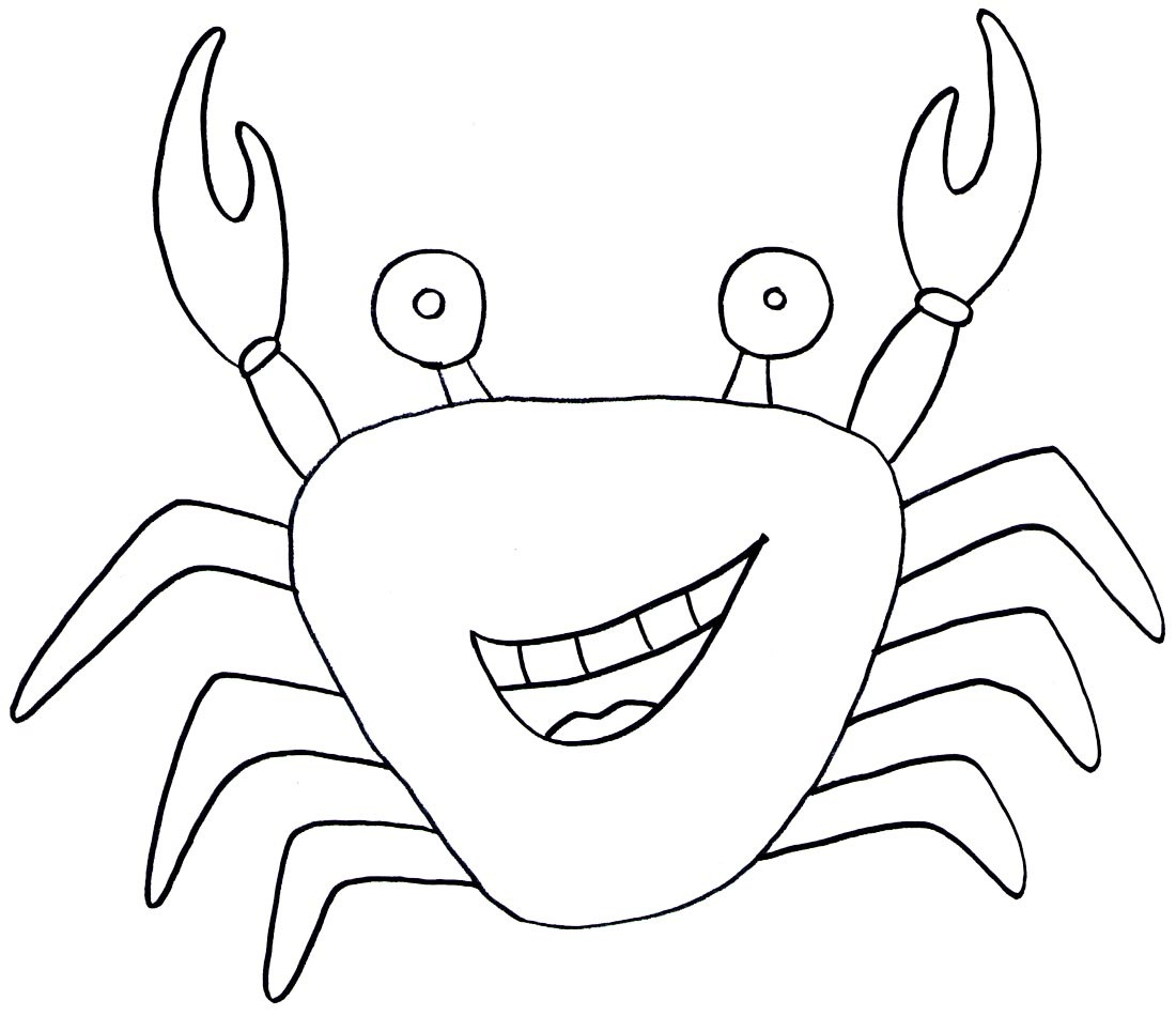 Crab Line Drawing at GetDrawings.com | Free for personal use Crab ...