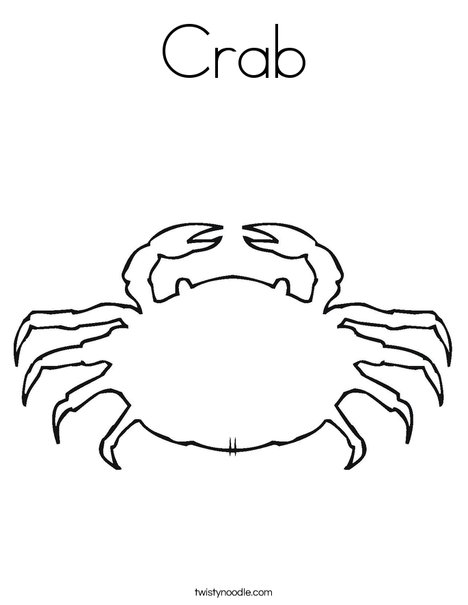 468x605 Crab Coloring Page