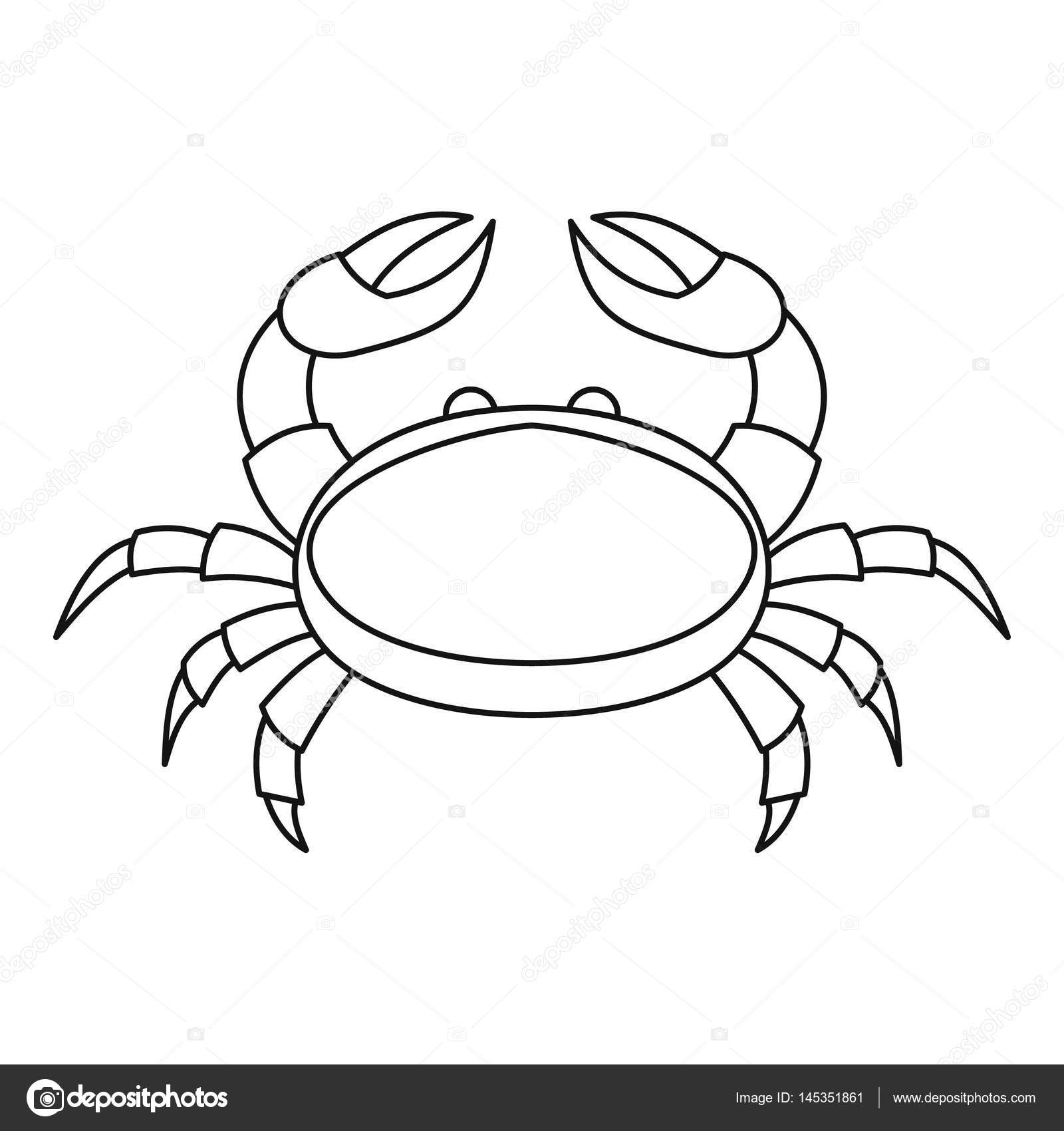 1600x1700 Crab Icon, Outline Style Stock Vector Ylivdesign
