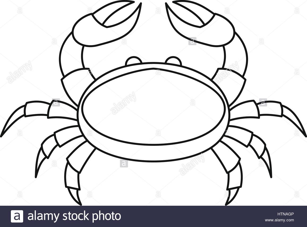 1300x960 Crab Icon. Outline Illustration Of Crab Vector Icon For Web Stock