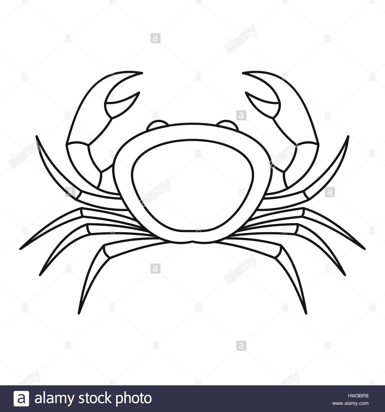 1300x1390 Crab Sea Animal Icon, Outline Style Stock Vector Art