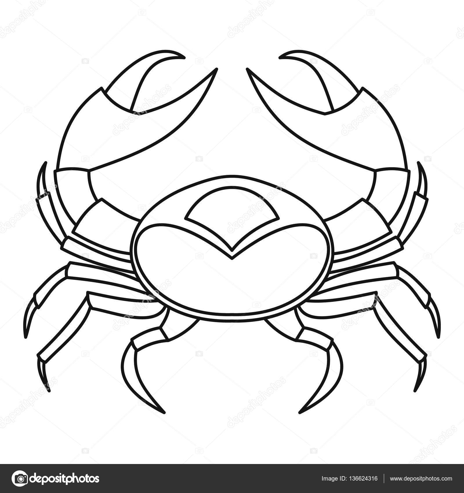 1600x1700 Big Crab Icon, Outline Style Stock Vector Ylivdesign