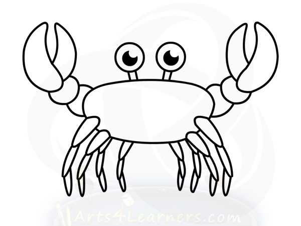 600x450 How To Draw Crab Arts4learners On Crab Outline Drawing