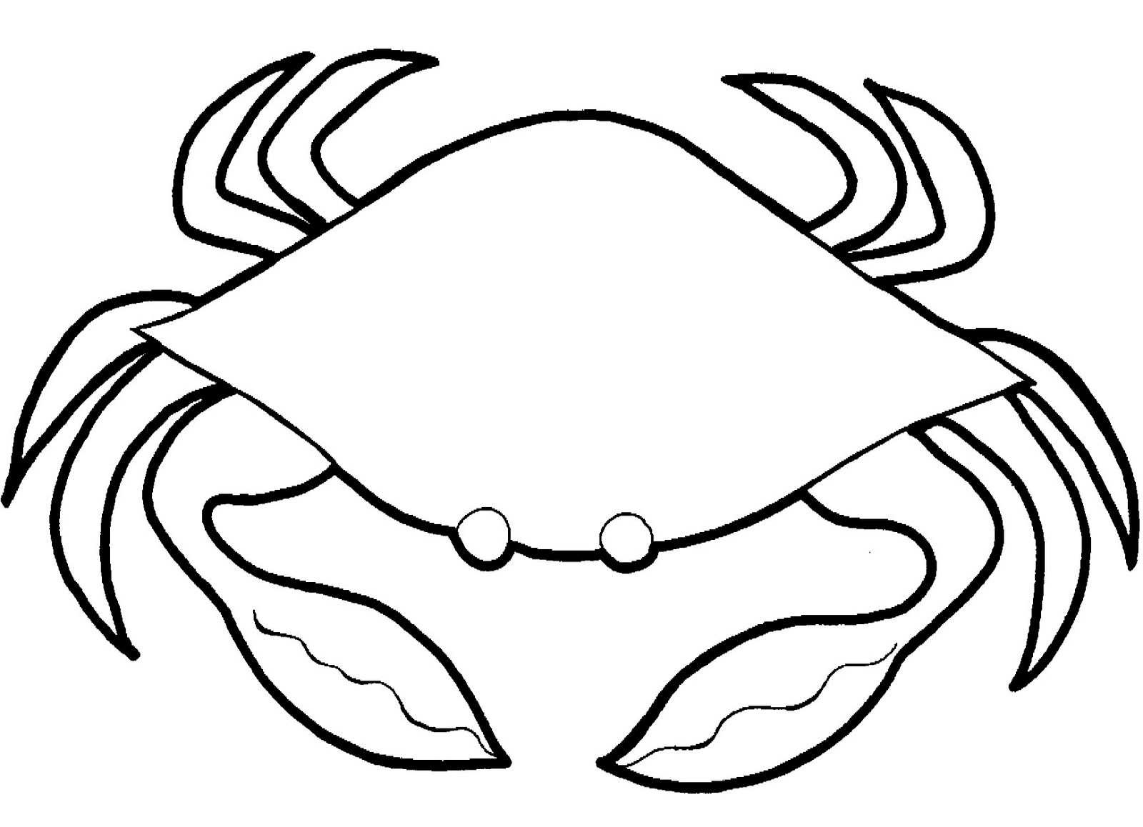Crab Outline Drawing at GetDrawings.com | Free for personal use Crab ...