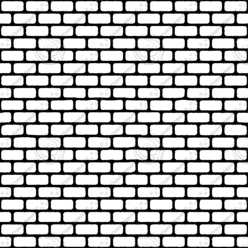 1000x1000 Home Design Brick Wall Drawing Black And White Fence Office