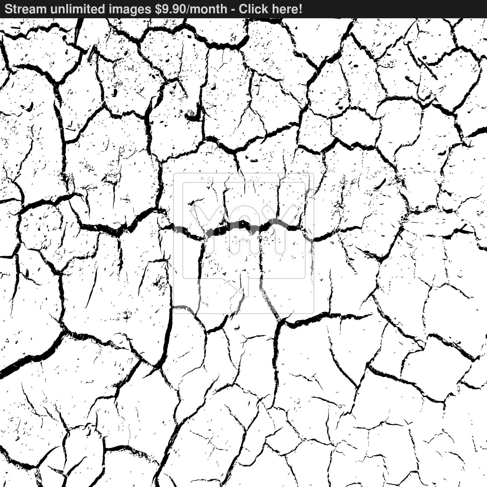 1600x1600 Cracked Clay Ground Into The Dry Season. Vector Illustration