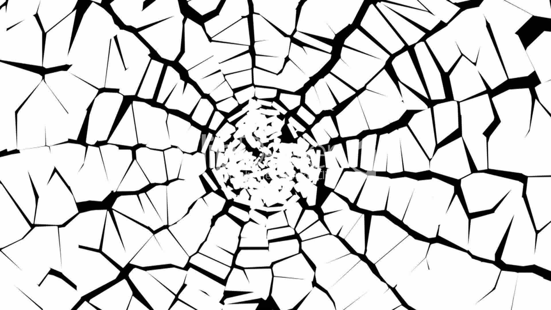 1920x1080 Broken Glass Shattered Crack Abstract Window Bokeh Pattern