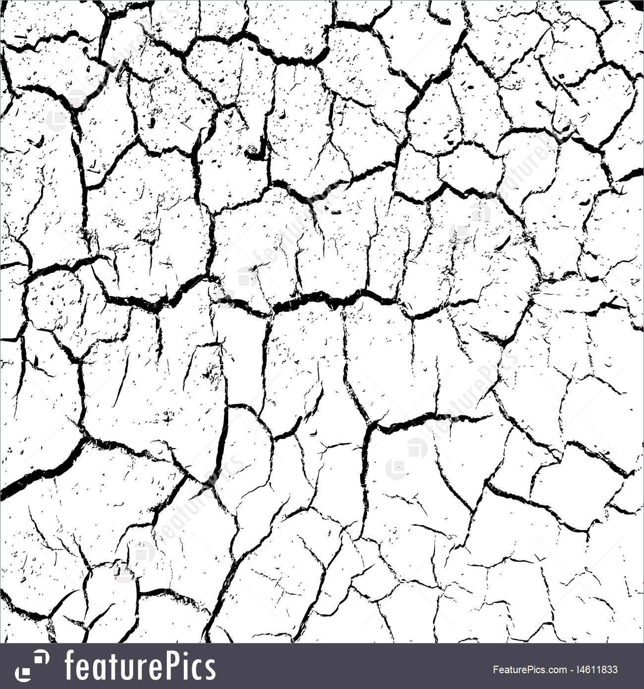 1300x1392 Cracked Clay Ground Into The Dry Season Vector