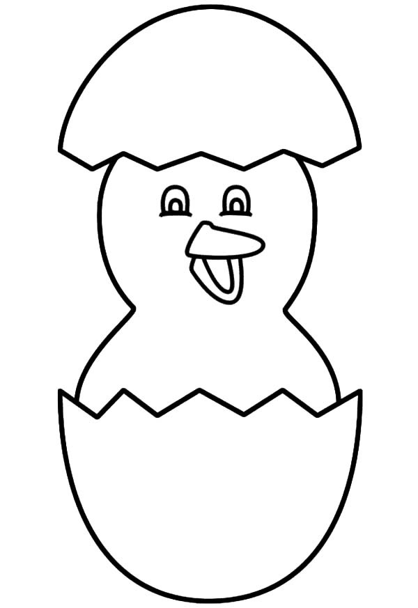 600x873 Cracked Egg Coloring Page Kids Drawing And Coloring Pages