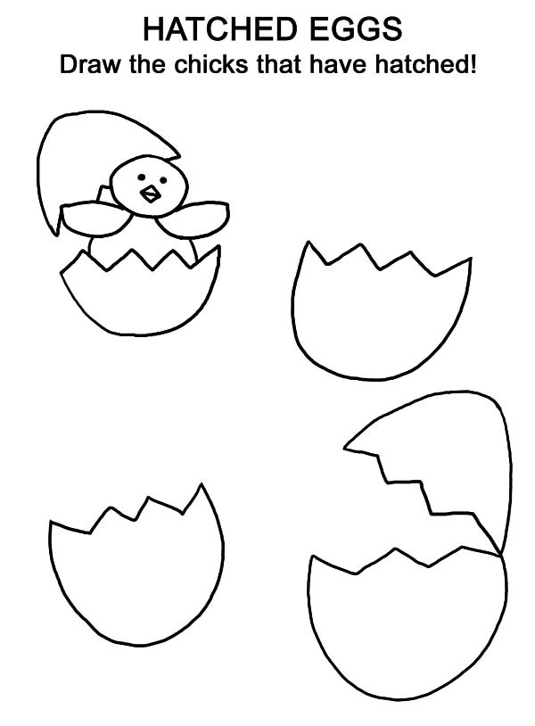 600x814 Hatched Chicken Broken Egg Coloring Pages Best Place To Color