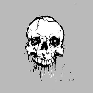300x300 Cracked Skull Digital Art Fine Art America
